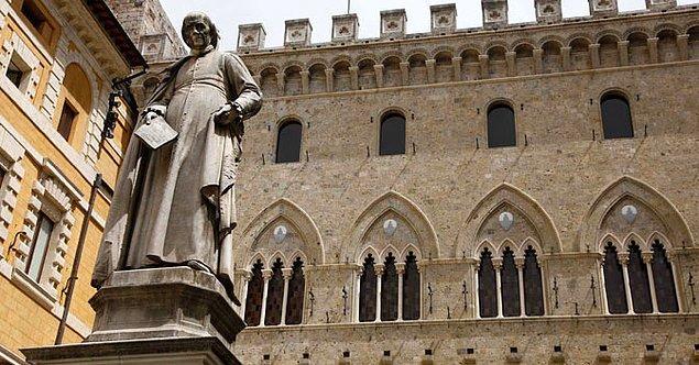 6. 1472'de İtalya'da bir rehin dükkanı olarak açılan Banca Monte dei Paschi di Siena, dünyanın varolan en eski bankası.