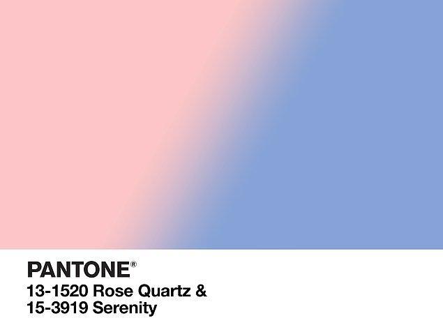 Her yıl tek bir renk açıklayan Pantone, 2016'da değişikliğe gitti ve iki ton açıkladı. İşte bu yılın en moda renkleri; Rose Quartz ve Serenity!
