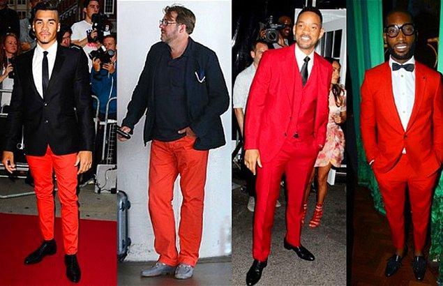 1. Kırmızı renk pantolon sence bir erkeğe yakışır mı?