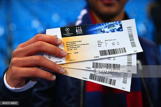 UEFA Finali'ne bilet.