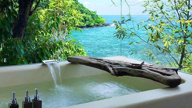 4. Sıcak banyoda rahatlayın