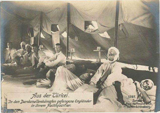 9. Çanakkale Savaşı sırasında İngiliz esirler, Türkiye.