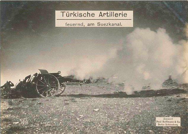 12. Türk topçu ateşi, Süveyş Kanalı