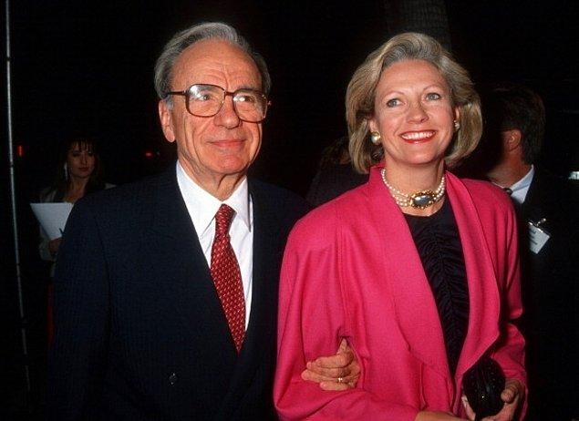 4. Rupert Murdoch ve Anna Maria Torv – 1.7 Milyar $