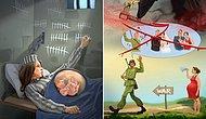 """Adına """"Modern Hayat"""" Diyerek Görmezden Geldiğimiz Çirkinlikleri İrdeleyen 13 Etkileyici Karikatür"""