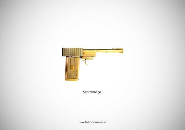 9. The Man With The Golden Gun - Scaramanga