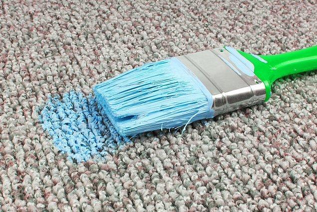 6. Evde boya badana olduğunda en korkulan şey oluşan lekelerdir!