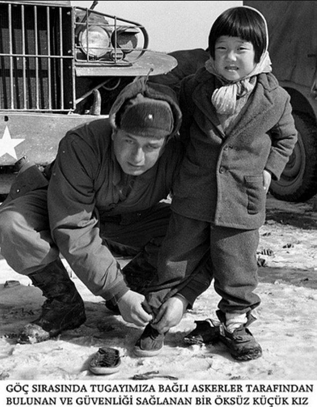 13. Yetim çocukların söylediklerine göre askerler, çocuklar üşümesin diye kendi istihkaklarından onlara kıyafetler dikmişler.
