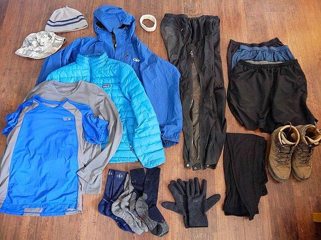 10. Yedek kıyafetler