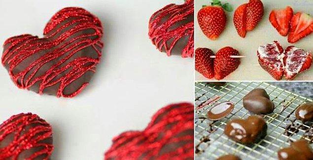 2. Dünyanın en güzel ikilisi çikolata ve çilek!