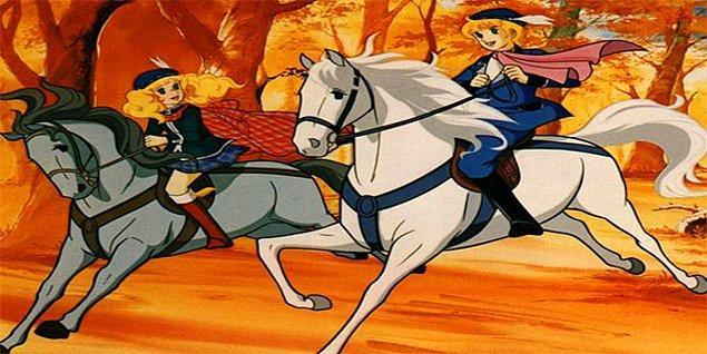 Ardından ata binen iki genç aşık, tam büyük bir keyifle at sürerken olan olur.