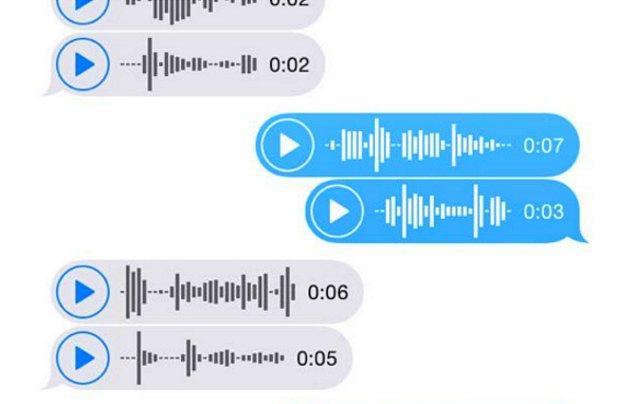 8. Birbirinize yazmaya üşendiğiniz için genellikle sesli mesajlarla iletişim kurarsınız...