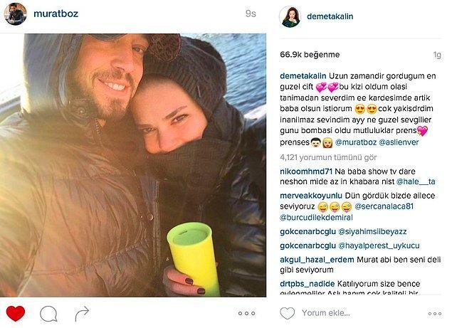 Bu yeni çiftin, ünlü bir hayranları dahi vardı: Demet Akalın!