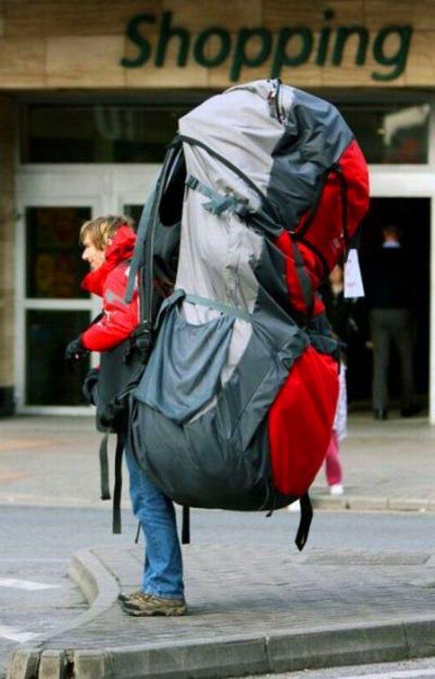 1. Sırt çantası hazırlama
