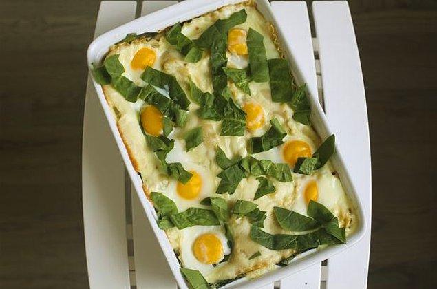 5. Kahvaltılık Yumurtalı Lazanya