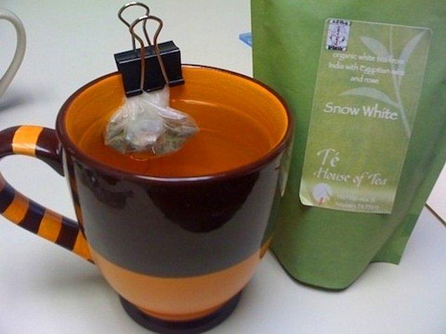 9. Evde poşet çay bittiyse size poşet çay şansı tanıyacak şey işte burada