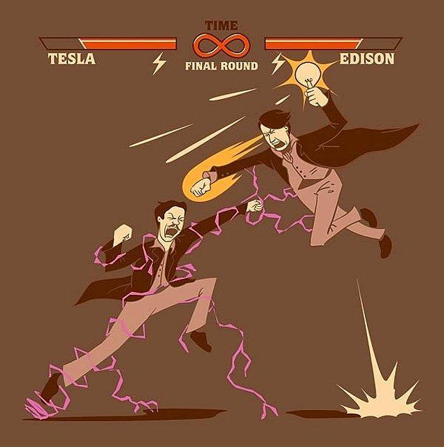 4. Tesla yapıcı bir insandı, Edison yıkıcı.