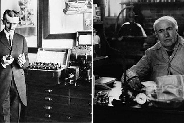 11. Tesla'nın amacı bedava enerji sunmaktı, Edison kar odaklı bir kapitalistti.