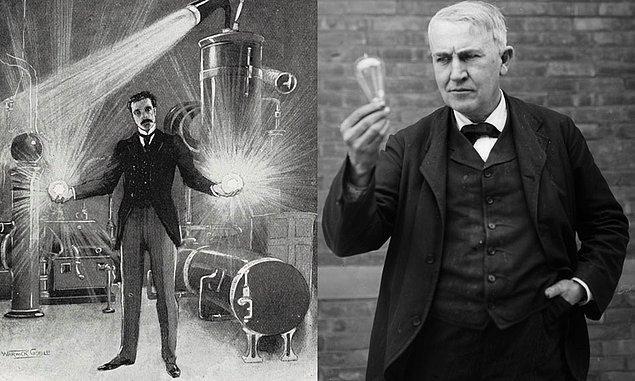 9. Tesla alternatif akımdır, Edison ampuldür.