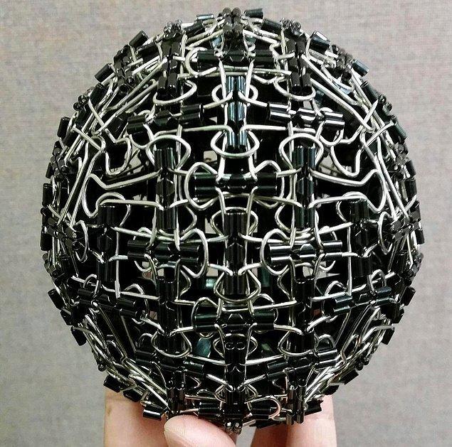 13. Dosya klipsleri ile yapılan top