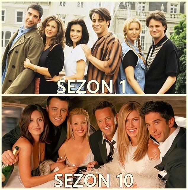 14. Rachel, Monica, Phoebe, Joey, Chandler, Ross