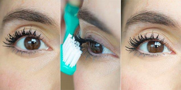 11. Maskara uygulaması sonucu kirpikleriniz birbirine yapışıyorsa, makyaj kutunuza temiz bir diş fırçası atmanızda fayda var.