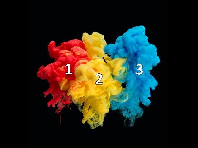 1. Bir nebze kolay bir soru ile başlayalım! 2. ile 3. rengi karıştırırsak, hangisini elde ederiz?