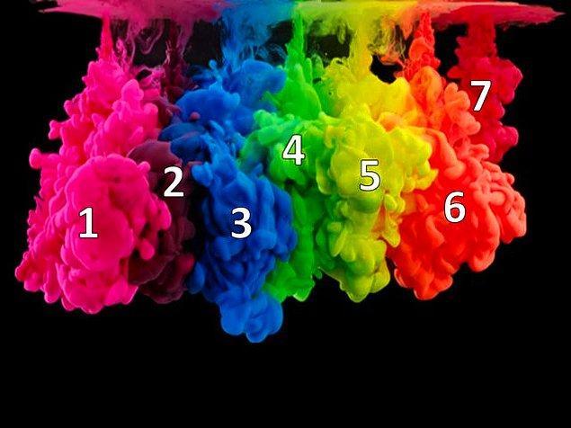 4. Bir de 1. ile 5. rengi karıştır zihninde bakalım!