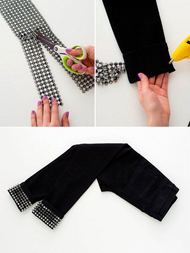 1. Paçalarına ekleyeceğiniz zımbalarla, pantolonunuzun duruşunu saniyesinde değiştirebilirsiniz!