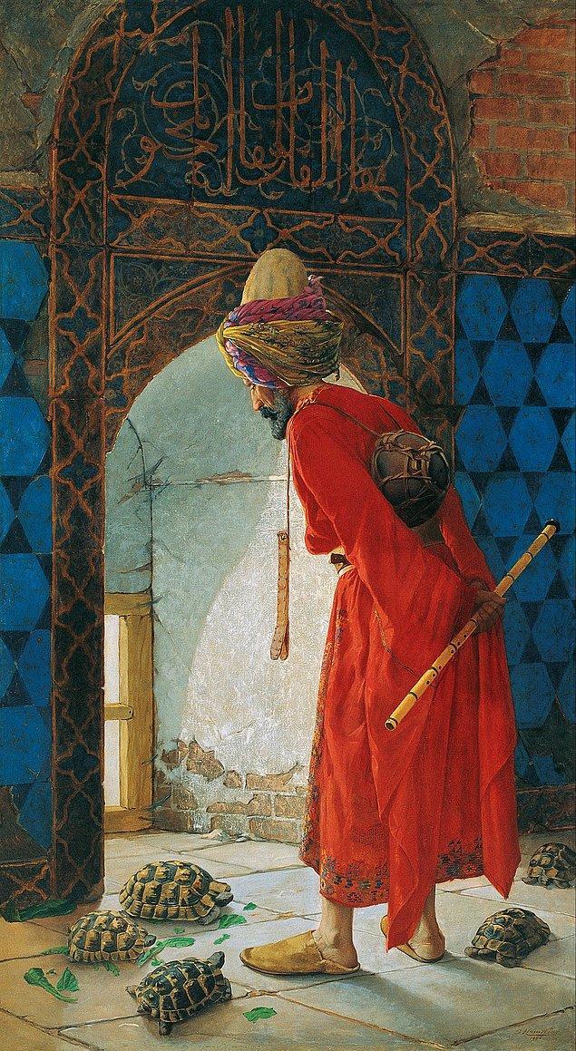 3. 'Kaplumbağa Terbiyecisi' isimli belki de Türk Sanat Tarihi'nin en meşhur resmi kime aittir?