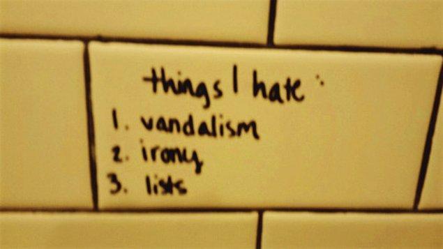 13. Bu nalet hayatta nefret ettiğim 3 şey