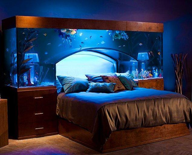 1. Akvaryum manzaralı yatak