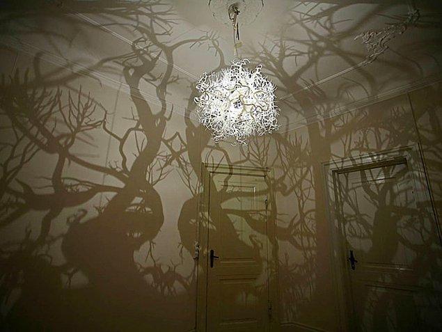 2. Odanızı ormana dönüştürecek avize