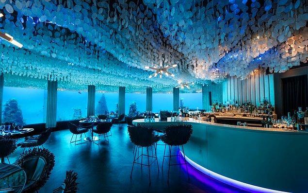 21. Maldivler'de sualtı restoranlarının sunduğu harika lezzetleri deneyin.