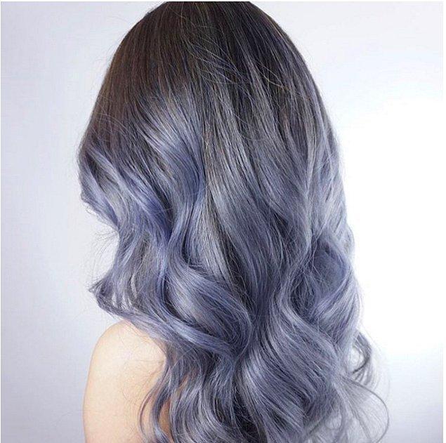Ve hatta dilerseniz, saçlarınıza kot rengi ombre de yaptırabilirsiniz.