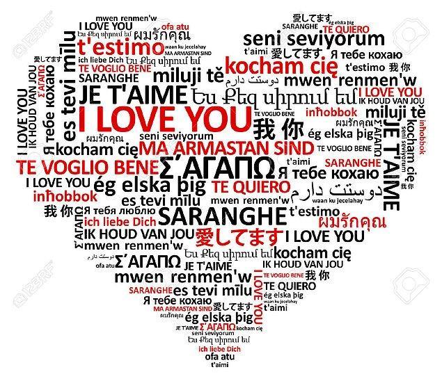 14. Farklı dillerde sevgi sözcükleri öğrenin.