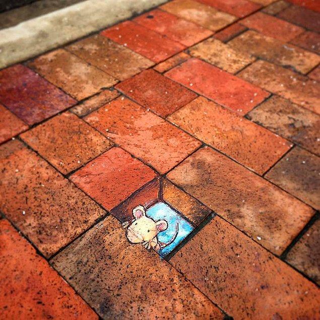 Эксцентричные рисунки на асфальте: украсить несовершенства улиц