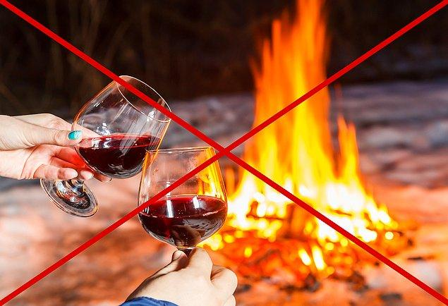 7. Alkol içinizi ısıtmaz; tam tersi üşümenize neden olur