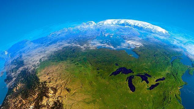 Kanada, Rusya'nın ardından dünyanın en büyük ikinci ülkesidir.