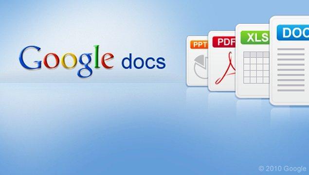 11. Google Docs'un uzmanı olmaya 1 saat yetiyor: