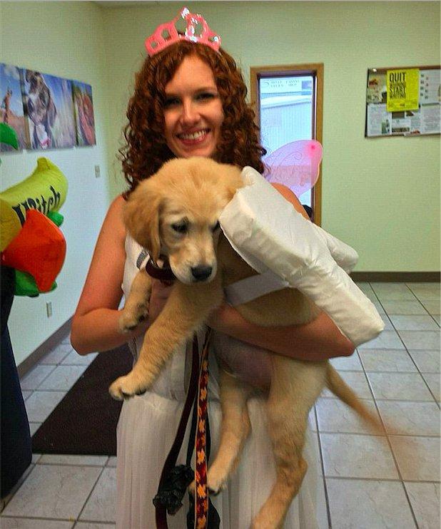 Molly работает в ветеринарной клинике, которая принадлежит её отцу.