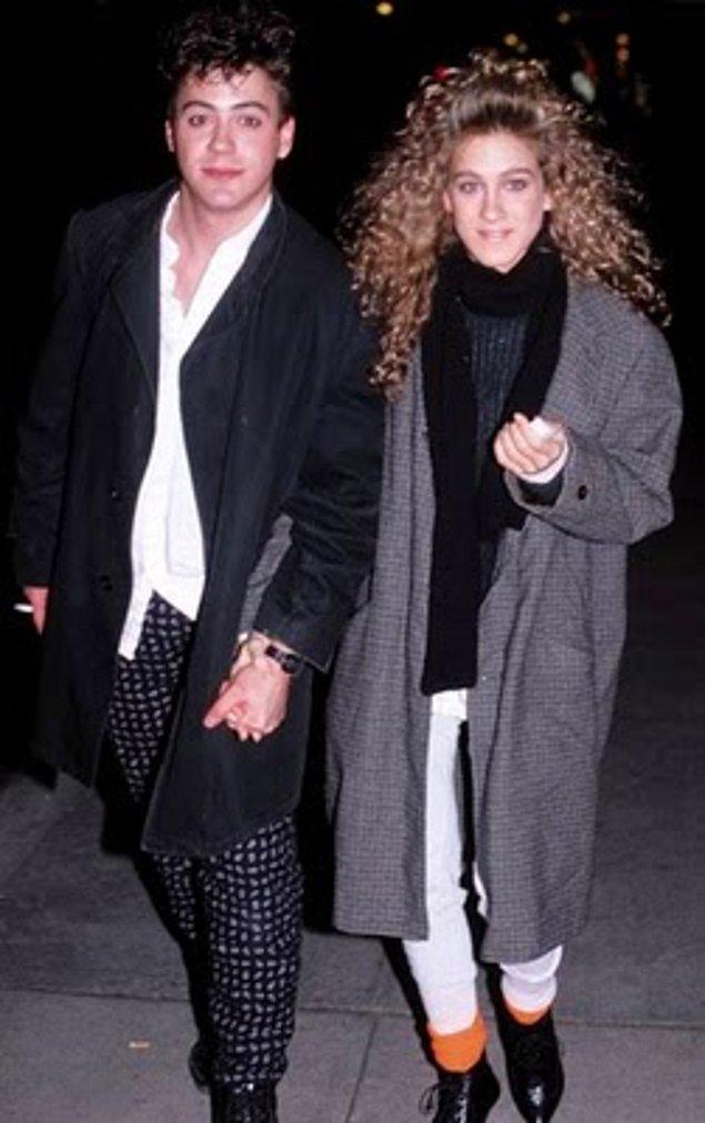 4. Sarah Jessica Parker ve Robert Downey Jr., 1985