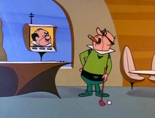 Bay Spacely'nin baş düşmanı ve Cogswell Çarkları şirketinin sahibi Bay Cogswell, George'u kendi kadrosuna katmaya çalışır.