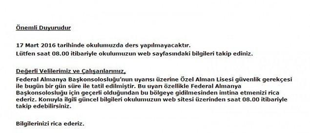 2. Ve İstiklal Caddesi saldırısı öncesinde Almanya Devleti Beyoğlu bölgesindeki kurumlarını tatil etmişti.
