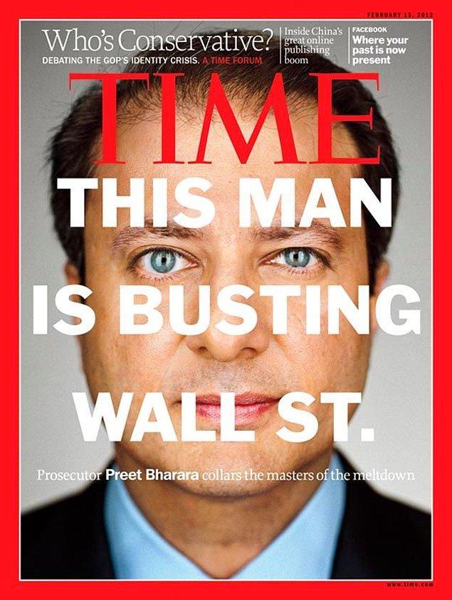 2012'de Time dergisinin kapağında: 'Wall Street'i suç üstü yakalayan adam'