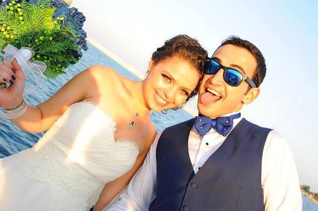 Çiftimiz, tanışmalarından 5 ay gibi kısa bir süre sonra evlenmeye karar verdi.