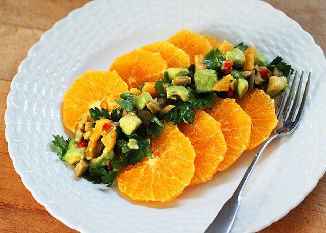 9. Portakal Sulu Greyfurt Salatası