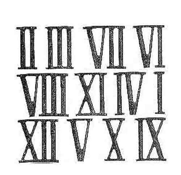 9. Matematikle olan ilişkinizi de ölçelim! Roma (Romen) rakamlarında hangisi sayının karşılığı yoktur?