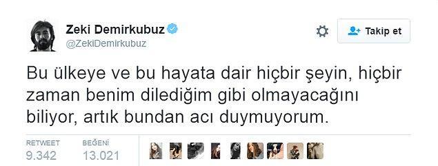 Akımın başlama noktası Zeki Demirkubuz'un attığı bu tweet.