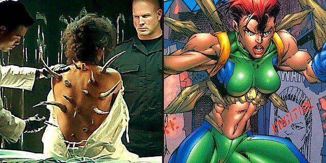 9. Weapon-X labaratuvarında bir anlığına sırtında dikenler olan karakteri görmüştük. Marrow adındaki karakter X-Force filminin bir işareti olabilir.
